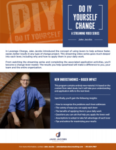 Do It Yourself Change 3 Pager