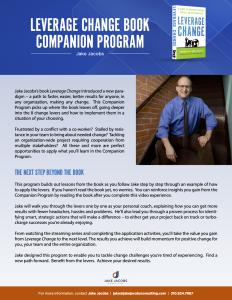 Leverage Change Book Companion Program